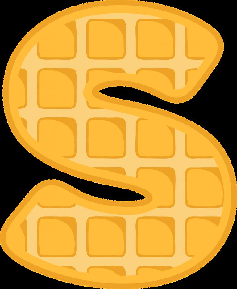 s, alphabet, waffle